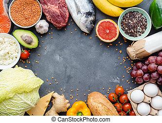 gezonde , voeding, concept