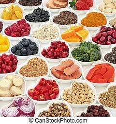 gezonde , voeding, goede gezondheid, voedingsmiddelen