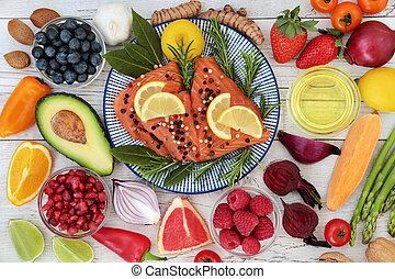 gezonde , voeding, hart