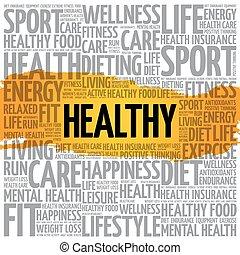 gezonde , woord, wolk