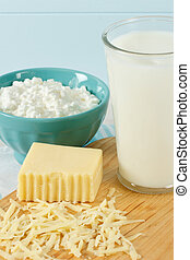 gezonde , zuivelproducten, melk, fris
