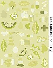 gezondheid, achtergrond, illustratie
