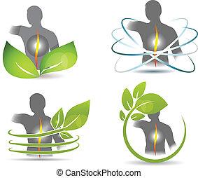 gezondheid, back, menselijk