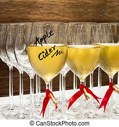 gezondheid, goed, cider, appel, drank