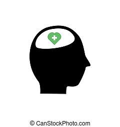 gezondheid, illustratie, ontwerp, grafisch, vector, geestelijk