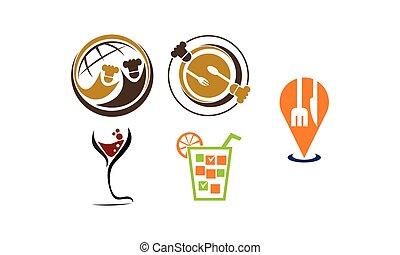 gezondheid, koffiehuis, set, bar, restaurant