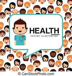 gezondheid, ontwerp, care