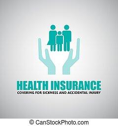 gezondheid, reisverzekering, iconen