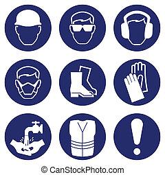 gezondheid, veiligheid, iconen