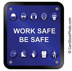 gezondheid, veiligheid, meldingsbord