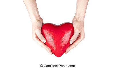 gezondheid verzekering, of, liefde, concept
