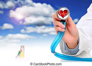 gezondheidszorg, concept.