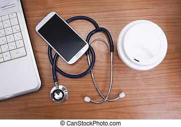 gezondheidszorg, geneeskunde, worktable