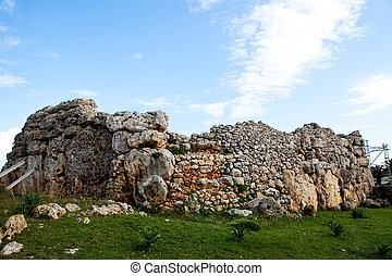 Ggantija temple remains in Gozo Island, Malta