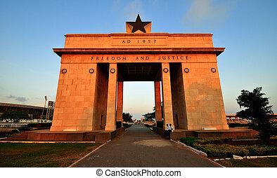 Ghana, arco,  Accra, independencia