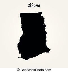 ghana, carte