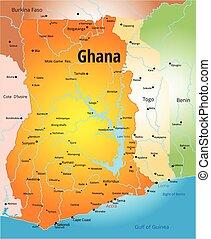 Ghana  - Vector color map of Ghana country