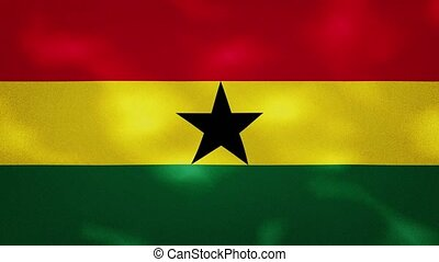 Ghana dense flag fabric wavers, perfect loop for background