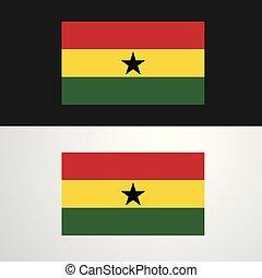 Ghana Flag banner design