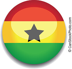 ghana flag button
