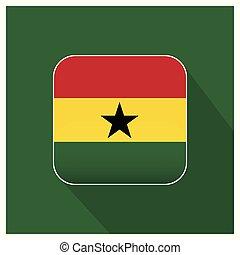 Ghana flag design vector