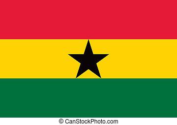 Ghana flag - Vector Ghana flag