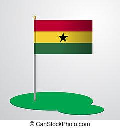 Ghana Flag Pole