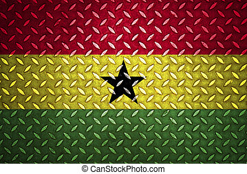 ghana Flag Seamless steel diamond plate