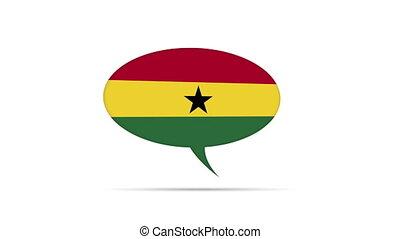 Ghana Flag Speech Bubble