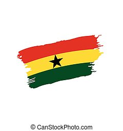 Ghana flag, vector illustration on a white background