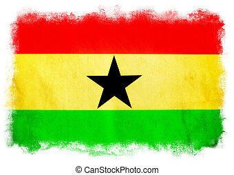 Ghana grunge flag