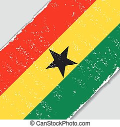 Ghana grunge flag. Vector illustration.