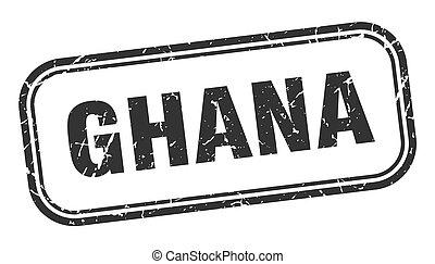 ghana, grunge, stamp., señal, aislado, negro