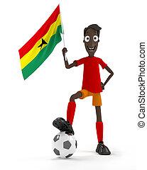 ghana, joueur, football