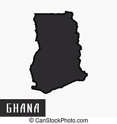 ghana map.