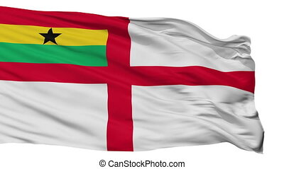 Ghana Naval Ensign Flag Isolated Seamless Loop - Naval ...