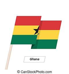 Ghana Ribbon Waving Flag Isolated on White. Vector ...