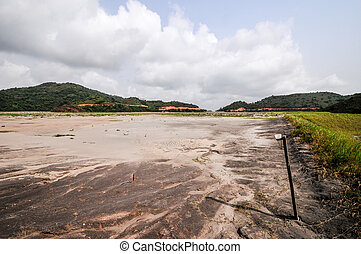 Ghana Tailings Pond - Filled Tailings Pond in Ghanaian...