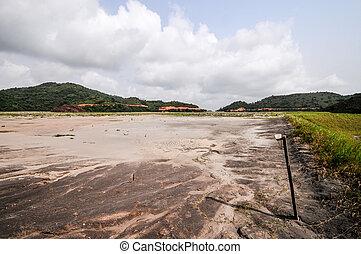 Ghana Tailings Pond - Filled Tailings Pond in Ghanaian...