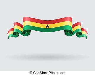 Ghana wavy flag. Vector illustration. - Ghana flag wavy...
