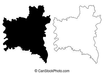 Gharbia Governorate (Governorates of Egypt, Arab Republic of Egypt) map vector illustration, scribble sketch Gharbia map
