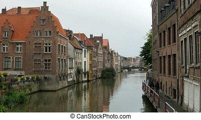 """ghent, θέα τηs πόληs , βέλγιο , 4k"""