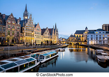 Ghent Old town Belgium
