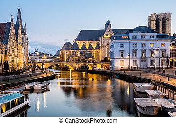 Ghent Old town Belgium