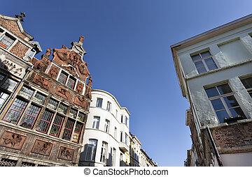 ghent, történelmi, utca