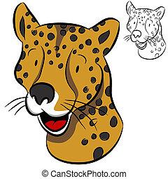 ghepardo, faccia