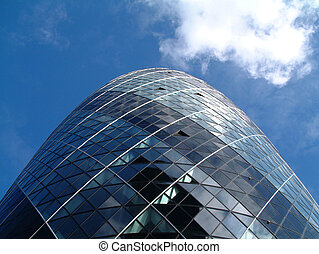 Gherkin 11 - This is a image of the modern building called...