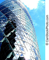 Gherkin 50 - This is a image of the modern building called...