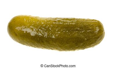 gherkin isolated - gherkin( dill pickle) isolated on a white...
