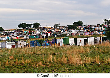 Ghetto life - Parts of ghetto in Soweto, a legacy of South...